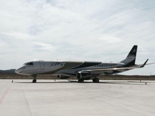 喀纳斯机场首次保障世袭1000超大型公务机