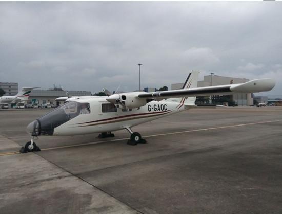 vulcanair火神飞机公司最新研发的上单翼双发涡轮机螺旋桨式飞机.