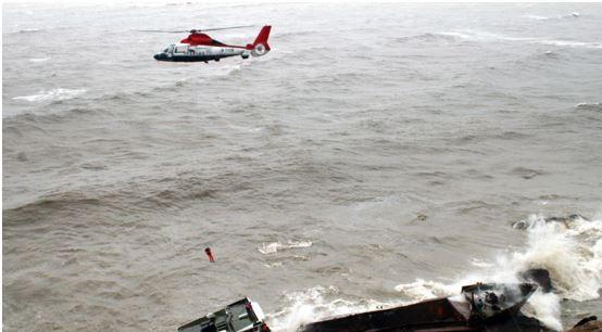 海直通航B7101机组成功营救18名海上遇险人员