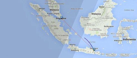 客机失联的地理位置