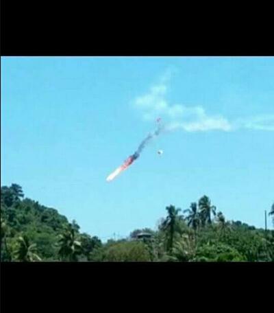 大马兰卡威国际航空展 2架印尼飞机相撞坠毁