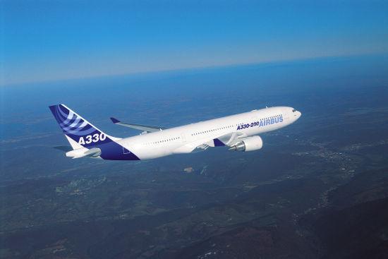 中国与空客达成购买45架A330宽体客机协议