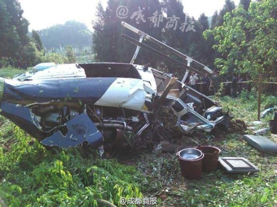 直升飞机坠毁现场
