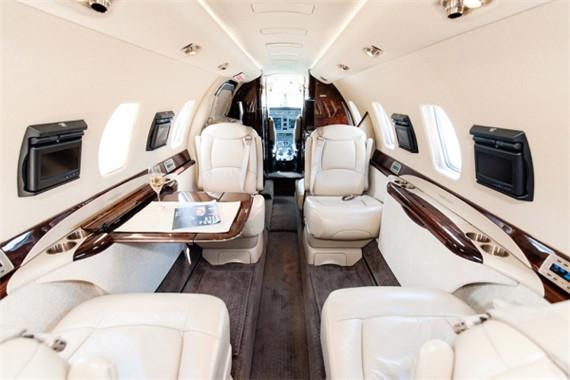 图:达美私人飞机内饰图-达美推常客计划升级服务 顶级客户可坐专机