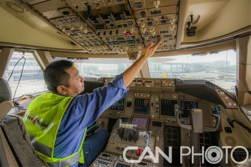 飞机驾驶舱中测试