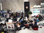 北京机场连续两天航班延误 旅客滞留