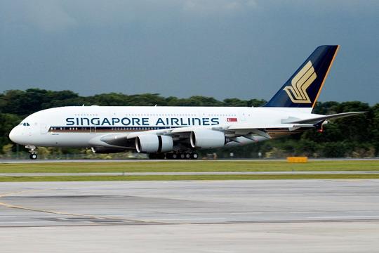 资料图片:新加坡航空公司空中客车A380飞机-新加坡副总理 政府五大