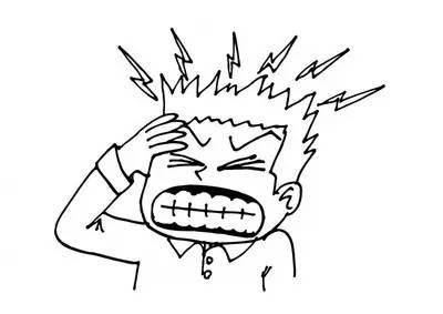 头痛的人简笔画怎么画 头痛简笔画 亲子简笔画大全