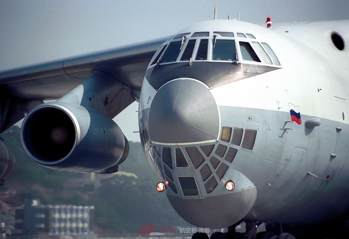航展中的伊尔-76运输机