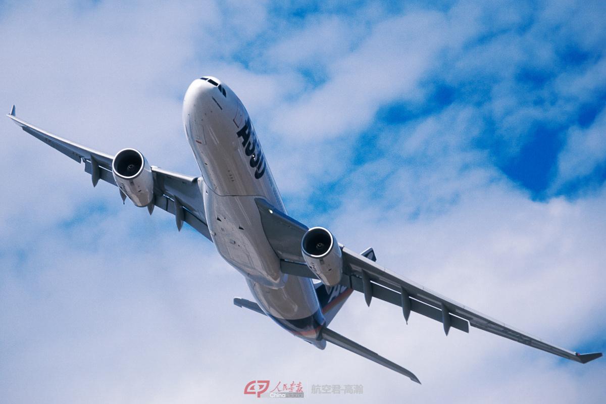 空客A330的表演优雅飘逸