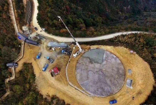 舟山金塘岛400米高山顶修建海防直升机停机坪