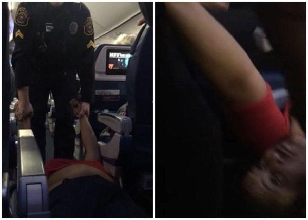 美国女子疑未完成登机程序 遭警员强拖下机