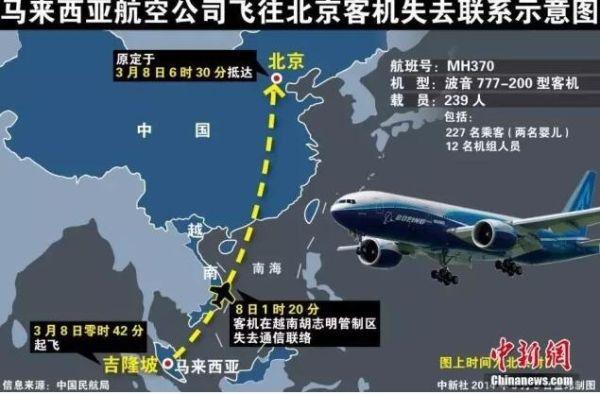 马方:MH370搜索近乎完成 找到飞机再做结论