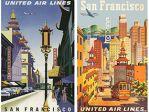 美联航上世纪50年代的广告 历史感扑面而来!